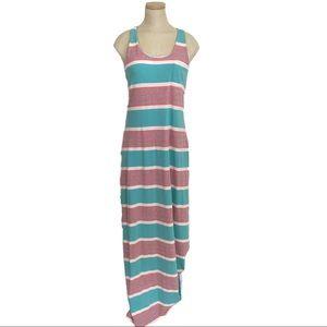 Tommy Bahama maxi dress Keefe stripe cross back
